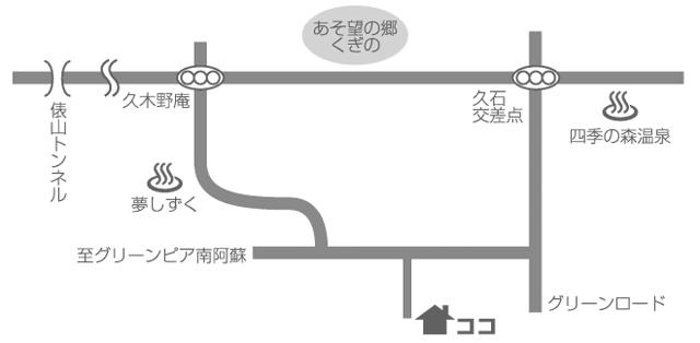 カフェ山猫軒への地図